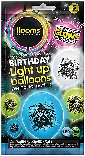 Ilooms Light Up Happy Birthday Balloons